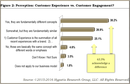 Perception: Customer Experience versus Customer Engagement