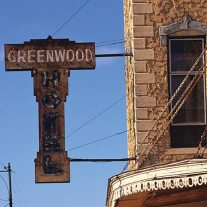 Greenwood Hotel sign Eureka, Kansas, 1883. Recently this old building was restored, removing it from possible inclusion into a Rural Ruins book.