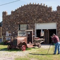 The handsome, original stone garage. Photographers, amateur and professional alike, find this place has limitless potential.  National Geographic Traveler has a substantial post on it.