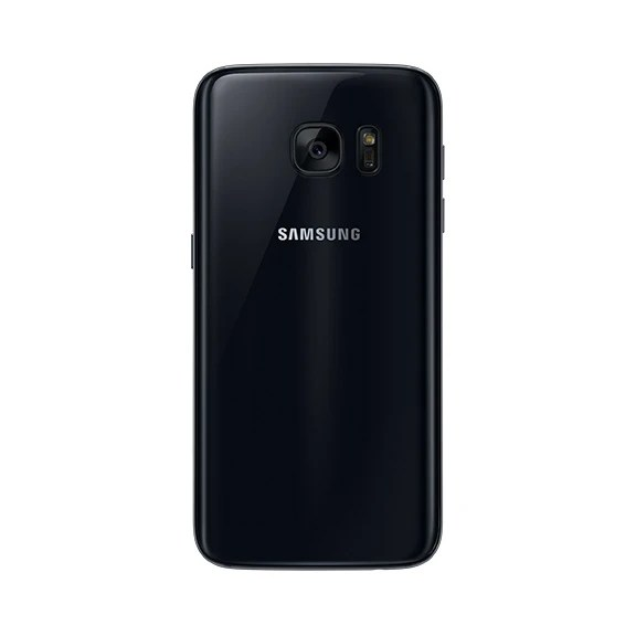 Samsung Galaxy S7 in black.