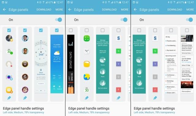 Choose your preferred edge panels