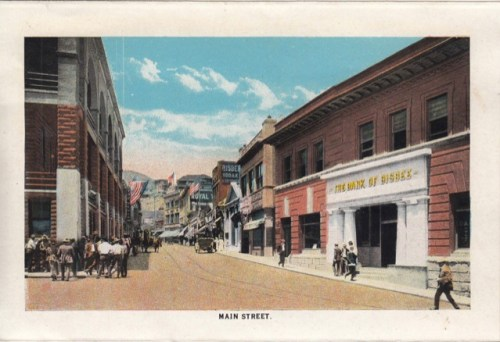 A vintage Main Street Bisbee postcard of mine. We'll be weaving in vintage postcards, historic audio, historic footage and photos.