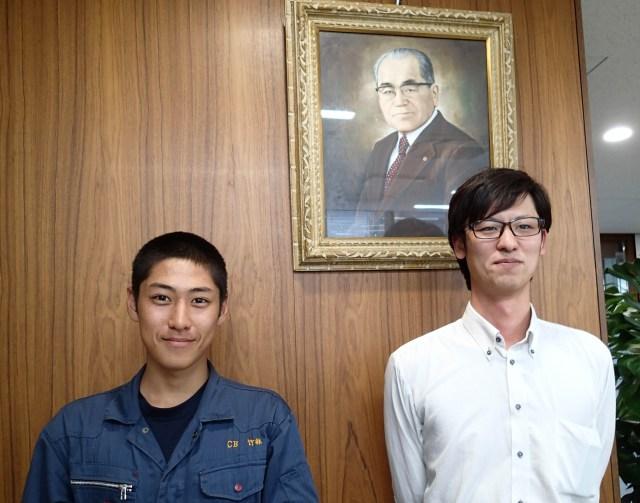 開新高校2年の竹林さんと立尾所長