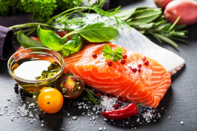 comida salmón aceite rico