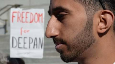 Deepan Budlakoti, pictured outside the Supreme Court building in Ottawa in June 2014, had his citizenship appeal dismissed with costs on Thursday.