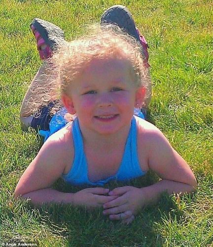 Angie Anderson's daughter McKenzie (pictured) was six when she fell ill with 'the sniffles' just before Christmas in 2014 which turned out to be AFM