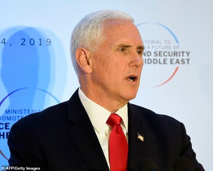 Vice President Mike Pence warned Thursday during a conference on Peace and Security in the Middle east in Warsaw, Poland, that Iran is plotting a 'new Holocaust'