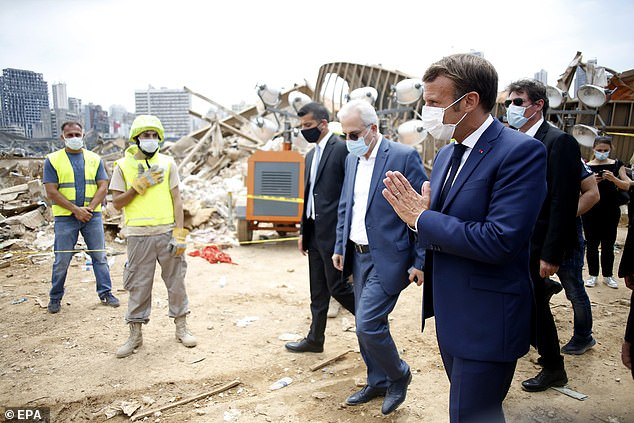 Emmanuel Macron was the first world leader to visit the former French colony after Tuesday's devastating explosion of a huge stockpile of ammonium nitrate which killed more than 150 people, wounded some 6,000 and left an estimated 300,000 homeless