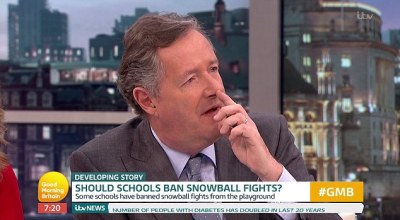 Piers Morgan slams headteacher who bans pupils from snow | Daily Mail Online