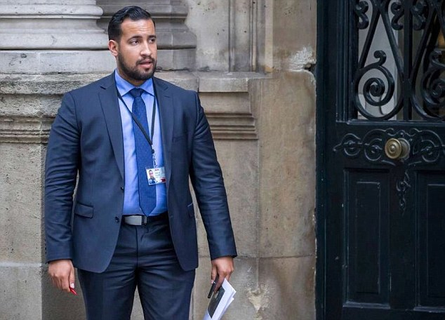 Emmanuel Macron deputy chief staff Alexandra Benalla caught dressing     Security adviser Alexandre Benalla faces prison after footage emerged of  him attacking May Day protesters earlier