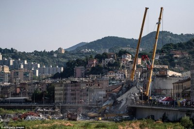 Genoa bridge collapse: More proof overpass was flawed from start? | Daily Mail Online
