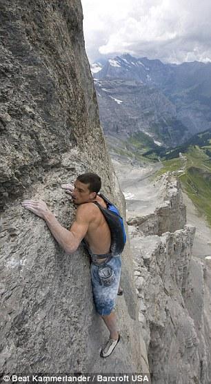 Dean Potter climbs the Eiger