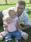 Andy Case with daughters Phoebe (middle) and Nereya, who he  fatally stabbed before hanging himself. Mr Case may have been tipped  over the edge by money worries