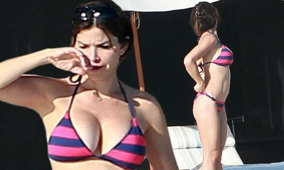 Lauren Sanchez shows off her bikini body poolside in Mexico | Daily Mail Online