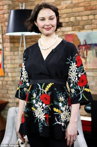 Puffed up: Ashley Judd sparked plastic surgery rumours when she appeared on The Marilyn Denis Show in Toronto to promote her new show, Missing