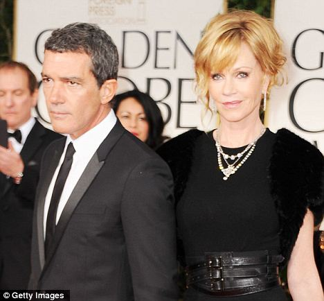 Hispanic: Like Antonio Banderas and Melanie Griffith, 45 per cent of interracial straight married couples features one Hispanic partner