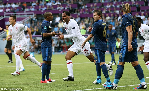 Pure delight: Lescott was uncertain of his starting role before the game, but paid his manager back in the best possible way