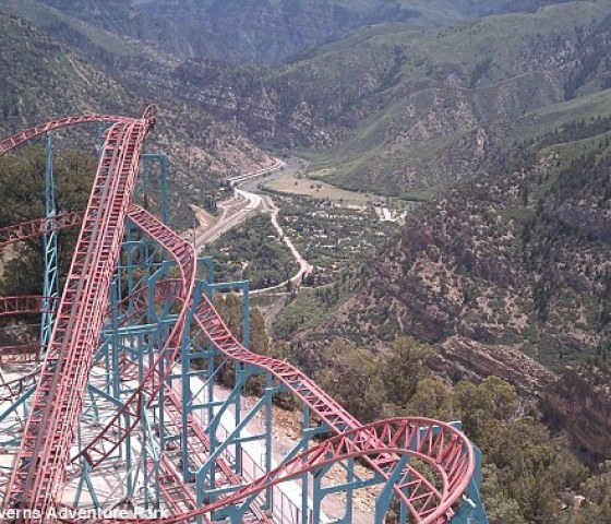 Stunning: Those brave enough to keep their eyes open witness panoramic views up the Roaring Fork Valley and into the Glenwood Canyon, as their carts roar around the tracks