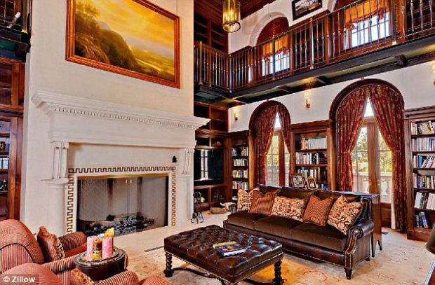 Grand: This two story library is just one of the many selling points