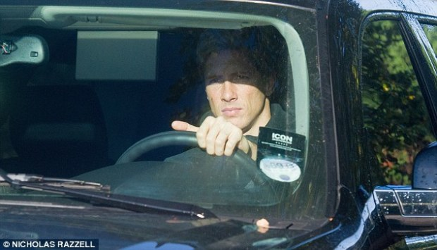 At the wheel: Fernando Torres was also among the players training on Tuesday morning