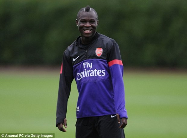 On your bike! Frimpong said he would cycle to Ghana if it meant a first cap for the Black Stars