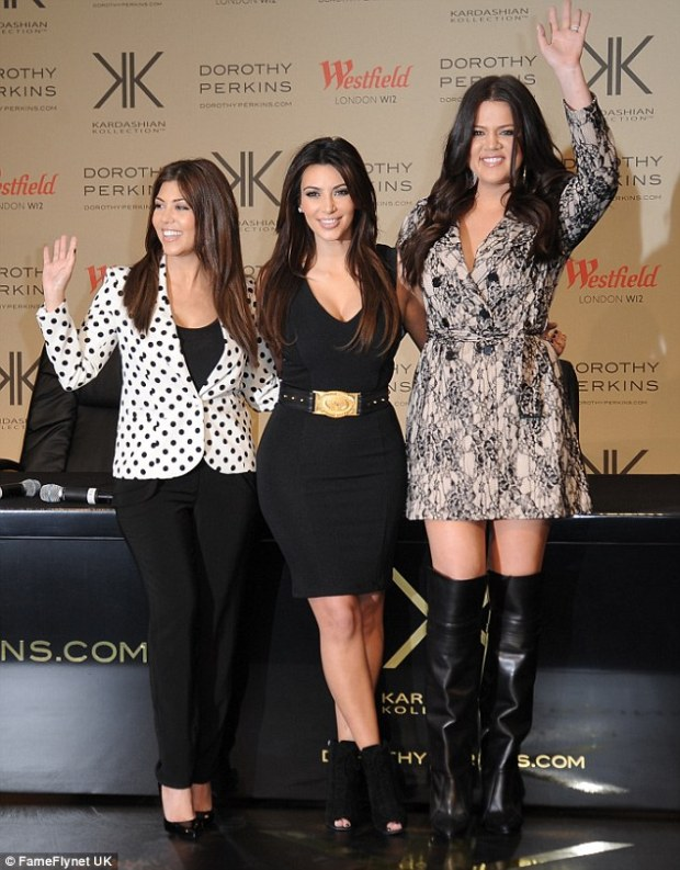Can you see Kate in this? Kourtney, Kim and Khloe recently took over London to promote their latest fashion venture, but couldn't convince the Duchess to get on board