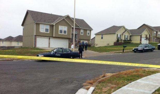 Crime scene: Authorities received a call Saturday morning from a woman who said her daughter had been shot multiple times at a residence five miles away from the Arrowhead complex