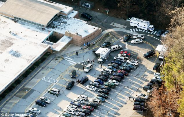 Crime scene: Lanza forced his way into Sandy Hook Elementary School on Friday morning