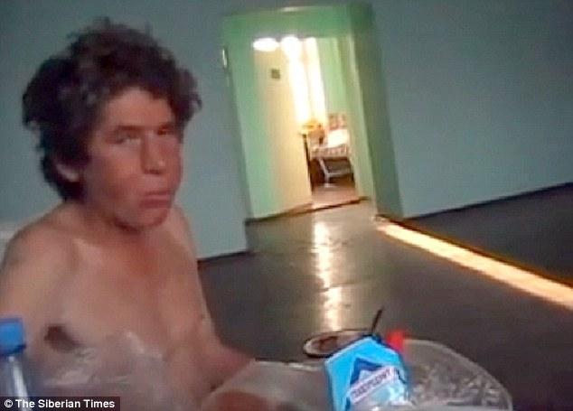 Survivor: Alexander Abdullayev filmed at hospital after his ordeal in the Siberian wilderness