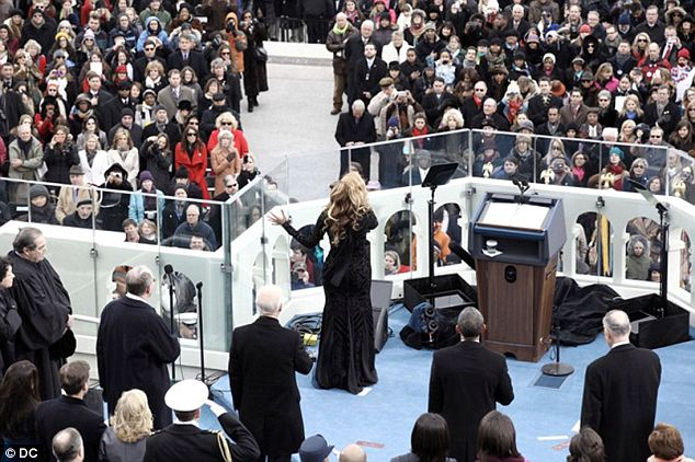 Riddle: Officials stated that the singer decided to use the version of the National Anthem that she pre-recorded with the Marine Corps Band in the days prior to the Inauguration, but later backtracked