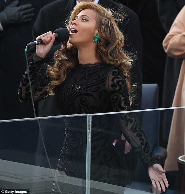 Singing live? Beyoncé has yet to comment on reports she mimed during her performance of the Star Spangled Banner at President Obama's second inauguration ceremony