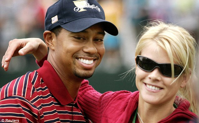 Calm before the storm: Tiger and Elin pictured in 2005, soon after the birth of their first child. In 2009 the world was shocked by reports of the golfing star's string of affairs