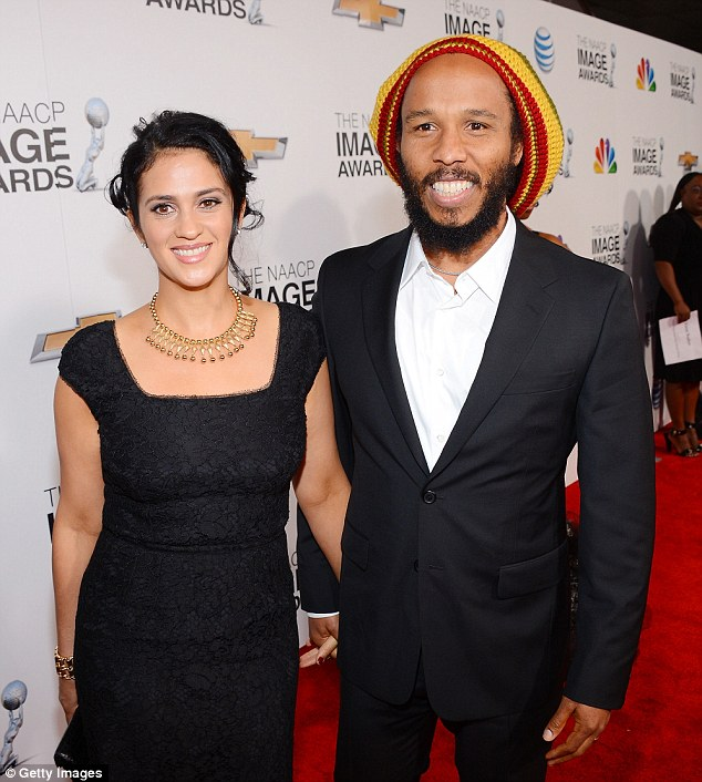 No woman, no cry: Singer Ziggy Marley and his wife Orly Marley made a handsome couple