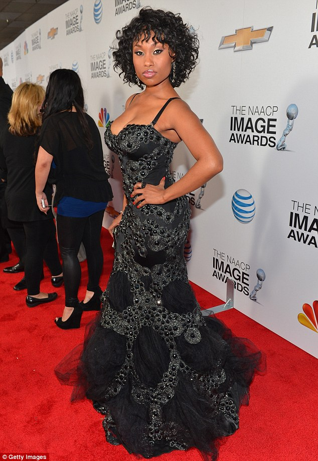 Show stopping: Angell Conwell showed the celebrity pack how to get the cameras clicking