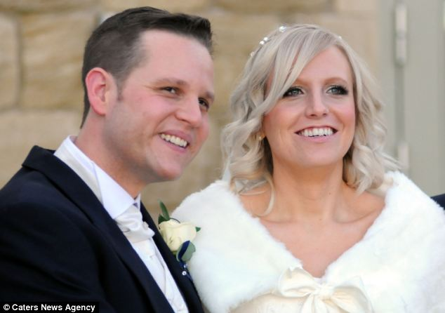 The couple were forced to cancel their wedding after Stephanie suffered a fit and was diagnosed with the tumour last April