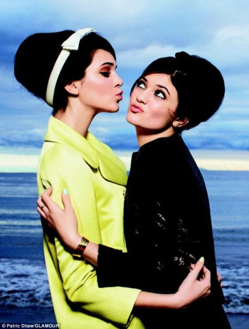 Growing up in the spotlight: The Jenner sisters Kendall and Kylie admit they don't even remember what it was like not to be famous as they pose for Glamour magazine