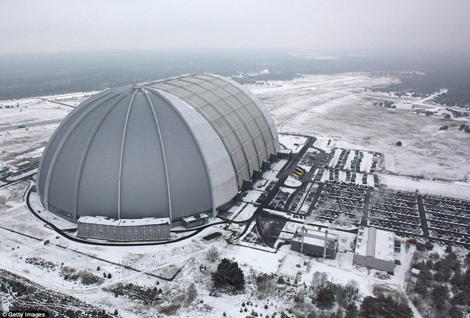 Indoor: Tropical Islands is located inside this giant hangar - with the actual weather a far cry from the conditions inside