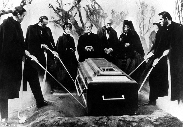 Macabre: An ageing millionaire survives a dreadful fate in the 1961 film 'The Premature Burial'