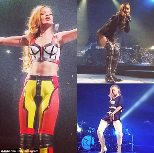 'Phresh Out the Runway': All eyes were on Rihanna as she debuted a dazzling array of sexy costumes during the kick-off of her 27-city Diamonds World Tour in New York Friday