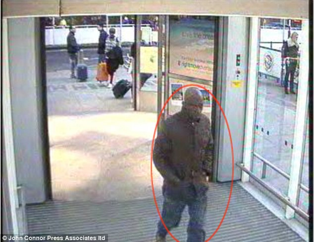 Investigation: Odosa Usiobaifo is seen walking through Heathrow Airport in this image
