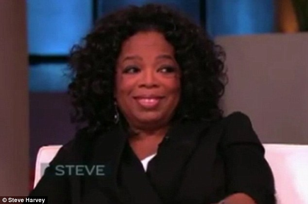 He's misbehaving: Oprah appears on Steve Harvey to responds about her Butler co-star Terrence Howard's comments on her 'tig ol's bitties'
