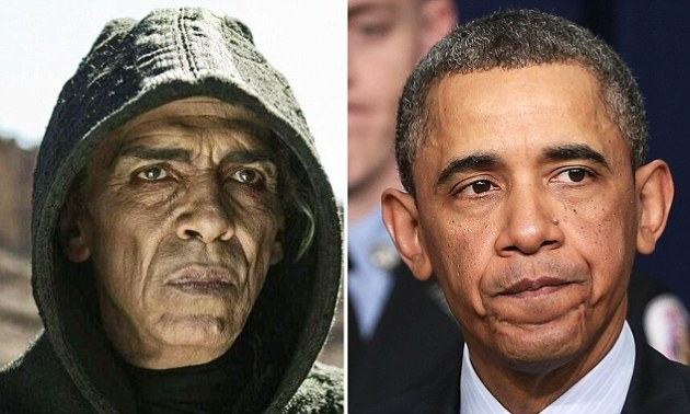The resemblance between Moroccan actor Mehdi Ouazzani (left) and President Obama left some viewers of 'The Bible' taking to Twitter to express their amazement