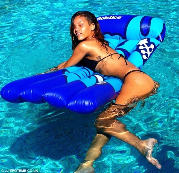 Natural pleasures: After weed day Rihanna was all about the more legal recreational activities