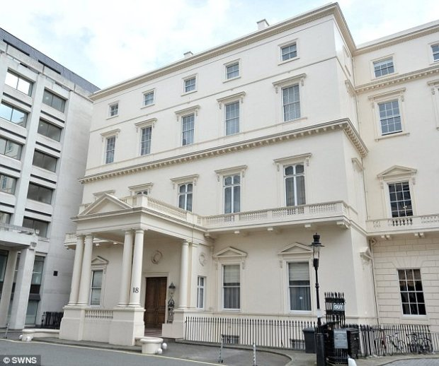 On sale: This house in St James's has apparently gone on the market with an asking price of £250million