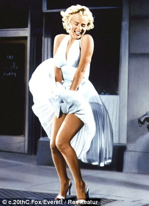 Famous: Marilyn Monroe's dress blows up in the 1955 movie 'The Seven Year Itch'