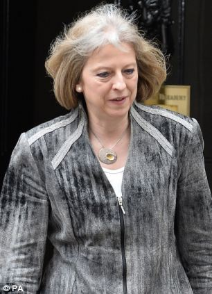 Theresa May pictured after a meeting of Cobra following the attack last night