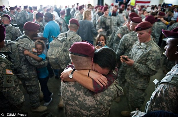 How it should be: A more typical homecoming for returning soldiers