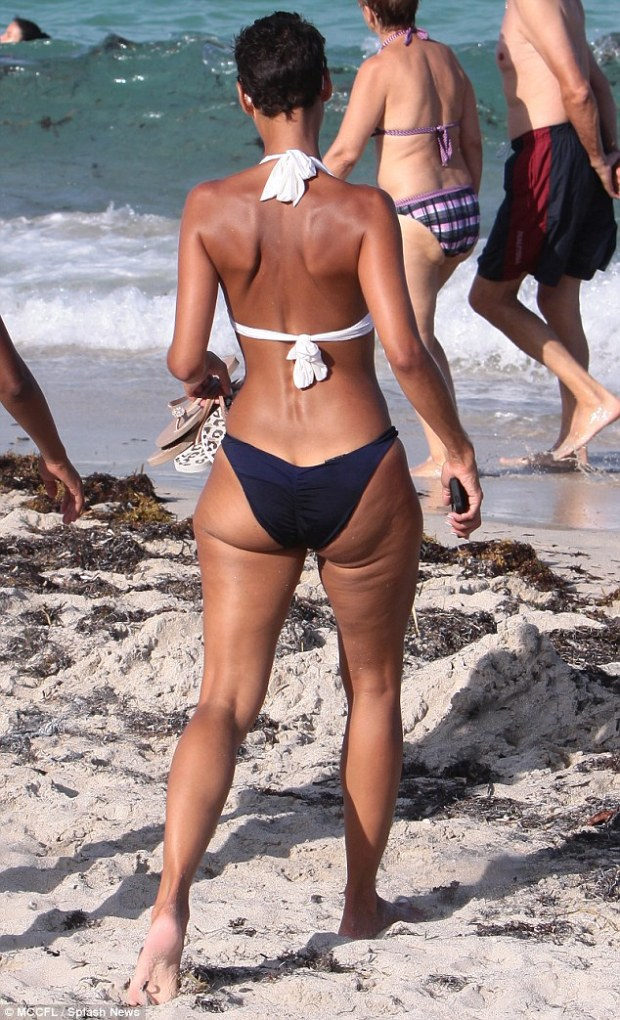 Flaunting her assets: The 45-year-old has a body envied by women half her age