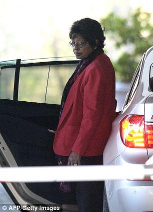 The former wife of Nelson Mandela,