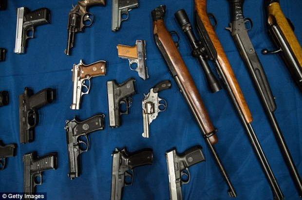 Variety: The guns seized ranged in size from small handguns to large assault weapons